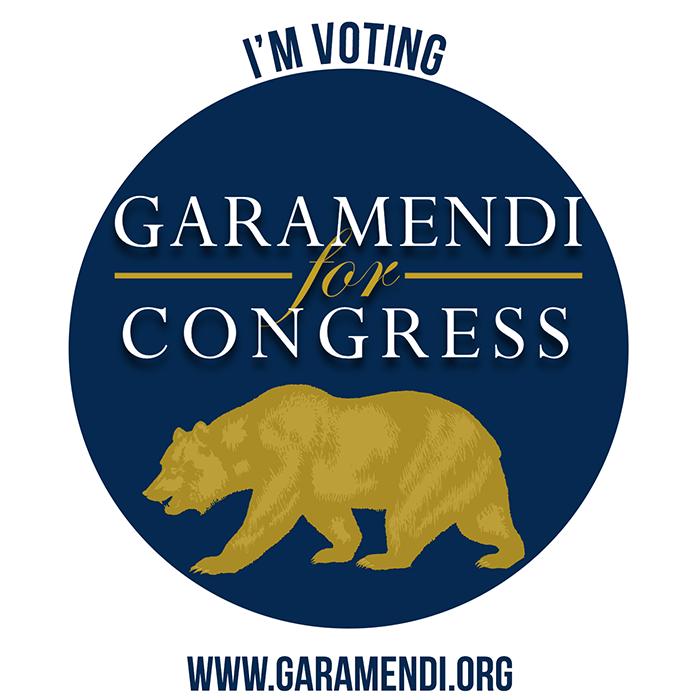 I'm Voting for Garamendi